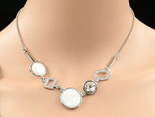 Sparkly Swarovski element crystal shell pendant 18KWGP necklace lady jewelry N34