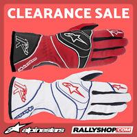 ALPINESTARS TECH 1-K Karting Gloves Red, White kart race CLEARANCE SALE!
