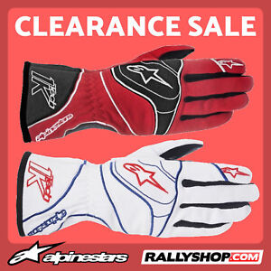 ALPINESTARS TECH 1-K Karting Gloves Red, White kart race CLEARANCE SALE! STOCK