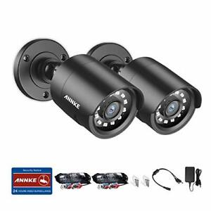 ANNKE 2.0MP CCTV Camera System, Pack of 2 HD 1080P Indoor/Outdoor Smart Home