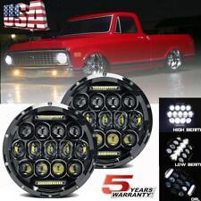 "7"" inch DOT LED Headlight Hi/Lo Sealed Beam for Chevy C10 Camaro Pickup Truck US"
