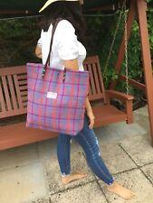 Purple Harris tweed bag tote bridesmaids gift woman girl Scottish tartan handbag