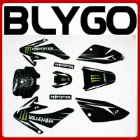 MONSTER Decals Graphics Sticker Kit CRF70 Style Fairing PIT PRO Trail Dirt Bike