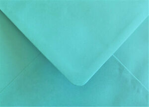 Turquoise Blue Envelopes C6 Gummed Flap Pearlescent 100gsm 100 Pack by Cranberry
