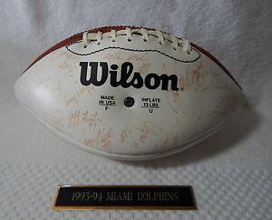 1994 Miami Dolphins Team Autographed Signed NFL Football Dan Marino Shula COA
