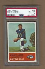 1962   FLEER  FOOTBALL RICHIE  LUCAS  #  19   PSA   8