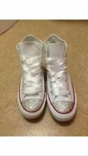 White hi top Customised Converse Size 4 5 6 7 8