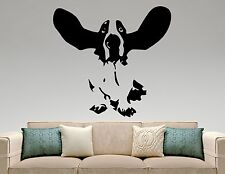Basset Hound Wall Decal Dog Vinyl Sticker Pet Art Room Bedroom Animal Decor 7epq