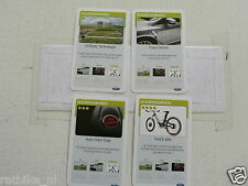 FORD DUURZAAMHEID KWARTET KAART SET OF 4 CARDS, QUARTETT CARD,E-BIKE,FOCUS ELECT