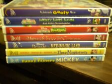 (7) Disney Mickey Mouse Children's DVD Lot: (2) MM Clubhouse  Christmas  Goofy