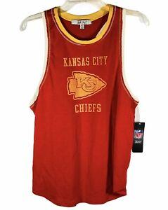 Junk Food Women's NFL Team Apparel Kansas City Chiefs Tank Top Shirt Size XL