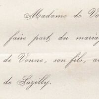 Henri Lebreton De Vonne 1864 Jeanne Torterue De Sazilly