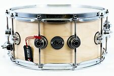 """DW 14"""" x 6.5"""" Collectors Series Snare Drum, Natural Satin Oil"""
