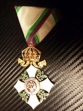 RARE! Bulgaria Order CIVIL MERIT 4 class medal award Boris Bulgarian 1918-1944