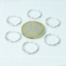 70 Anillas Baño de Plata 15mm  T148  Anello Anneau Open Jump Rings Plated Argent