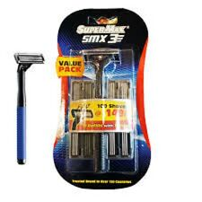 1 PACK SUPER MAX SMX 3  (10 REFILLS WITH 1 RAZOR)