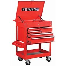 New US General 30 inch Red 5 Drawer Roller Tool Cart Storage Cabinet Chest Box