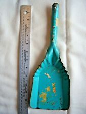 Vintage Ash Shovel For Fireplace Clean-up Cr 1950's Turquoise Free Shipping