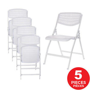 Set of 5 Folding Chair Home Office Meeting Kitchen Wedding Party Outdoor Indoor