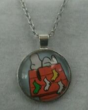 SNOOPY CHRISTMAS STOCKINGS CHARLIE BROWN PENDANT SILVER NECKLACE ADULT/KID NEW