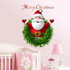 Removable PVC Merry Christmas Santa Claus Wall Sticker Window Sticker Home Decor