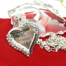 925 Sterling Silver Lovely Heart  Any Personalized Name Necklace Gift for Mom
