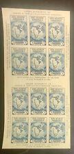 SCOTT #768 3c BLUE, 2-PANES OF 6 (VERTICAL) MNH, VF, CAT $45 - APS MEMBER