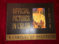 Rare Vintage 1934 Official Pictures In Color Chicago Worlds Fair Exposition
