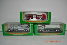 THREE Miniature Hess Trucks in Original Boxes  Fire Truck, Race Transport, Tanke