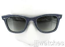 New Ray-Ban Original Wayfarer Blue Denim Sunglasses RB2140F 1163/71 52-22 $215