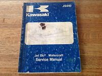 OEM Kawasaki 1982-1983 JS440 Jet Ski Watercraft Service Manual 99963-0054-01