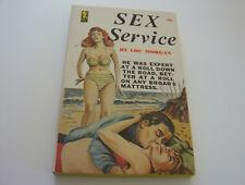 SEX SERVICE  1965  LOU MORGAN    GRAPHIC WILD BEACH SEX   FINE-