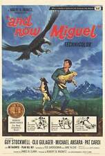 AND NOW MIGUEL Movie POSTER 27x40 B Pat Cardi Michael Ansara Guy Stockwell Clu