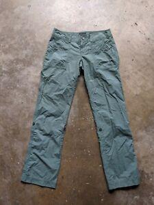 Marmot Womens Size 6 Green Outdoor Trail Hiking Pants Lightweight Cotton Blend