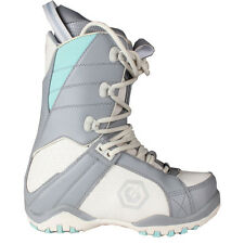 Youth Girls Womens LTD Classic Snowboard Leather Boots Grey Blue Size 6