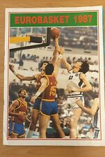 VINTAGE RARE BASKETBALL EUROBASKET 1987 STICKER ALBUM KAROUZEL GREECE