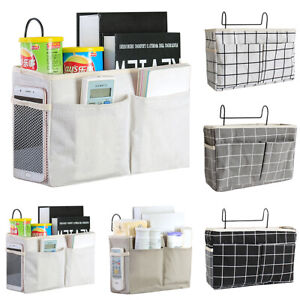 Bedside Caddy Hanging Bed Storage Bags Pockets Holder Couch Organizer Container