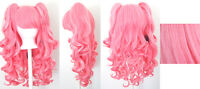 20'' Lolita Wig + 2 Pig Tails Set Rose and Cotton Candy Mix Gothic Sweet NEW