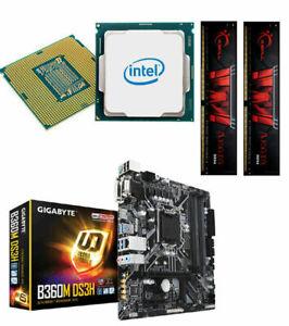 Bundle PC 90: Intel I5 9600K 6x4,6 Ghz Turbo / Gigabyte B360M / 16 GB PC2666