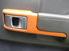 Cherry wood door card handle pull surround x4 for Range Rover L322 autobiography
