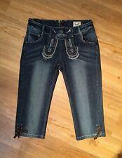 Stockerpoint Trachten Jeanshose Damen Blau Baumwolle 98% /2%Elastane Gr. 42