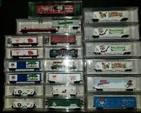 20 total N Scale Micro-trains Christmas / Holiday cars
