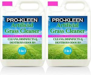 ARTIFICIAL GRASS CLEANER LAWN ASTROTURF PET DISINFECTANT DEODORISER FLORAL 10L