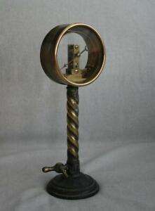 Antique Brass Pressure Gauge Manometer 19th Century