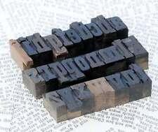 a-z Alphabet Holzlettern Lettern Holzbuchstaben Letter letterpress wood type