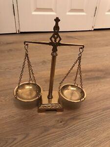 Vintage Antique Brass Balance Scales
