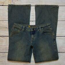 Wet Seal Flare Jeans Size 9 Juniors Grunge Wash Stretch Denim Boot Cut 38296598