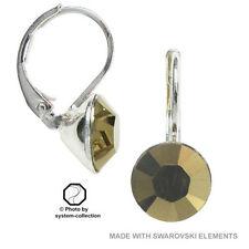 Hook Crystal Copper Costume Earrings