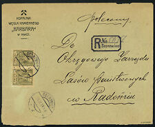 1919 Poland Sosnowiec cover letter prowizoryczna R-ka