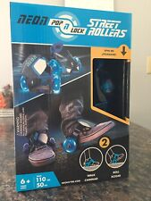 Pop N Lock Street Roller Skates with Led wheels New In Box Perfect For Chr